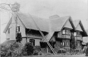 Oak Cottages, High Street, at entrance to the allotments