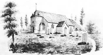 St Mary's Church, Leigh before 1860 restoration