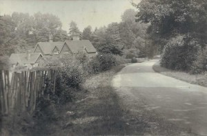 Lightfoot Cottages from Penshurst Road. Photograph from the album of Rev. Octavius Walton