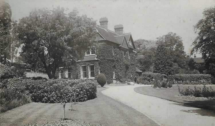 The Old Vicarage. Photograph from the album of Rev. Octavius Walton (vicar of Leigh 1906-18)