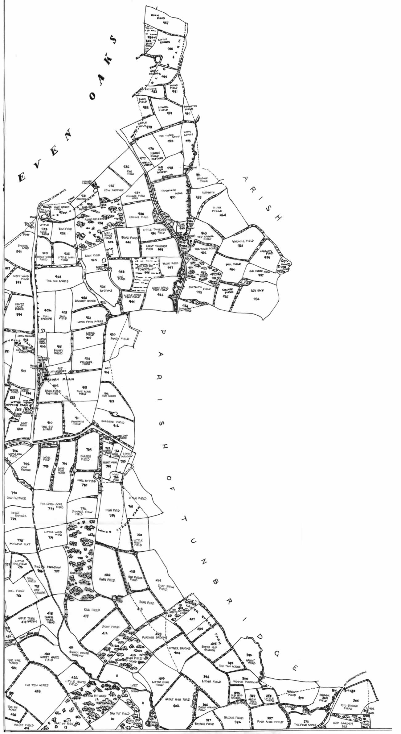 Tithe map. 1841, north-east quarter
