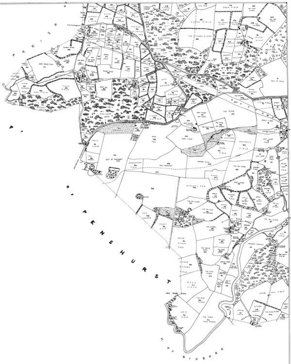 Tithe map, 1841, south-west quarter