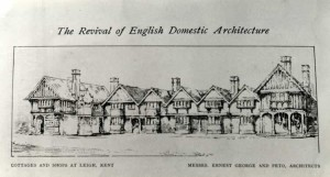 Illustration in 'The Revival of English Domestic Architecture. IV. The Work of Mr. Ernest George' The Studio vol 8 (1896):