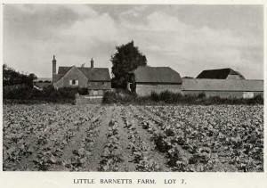 Little Barnetts Farm , 1921. Lot 7 in the auction of Penshurst Place Estate