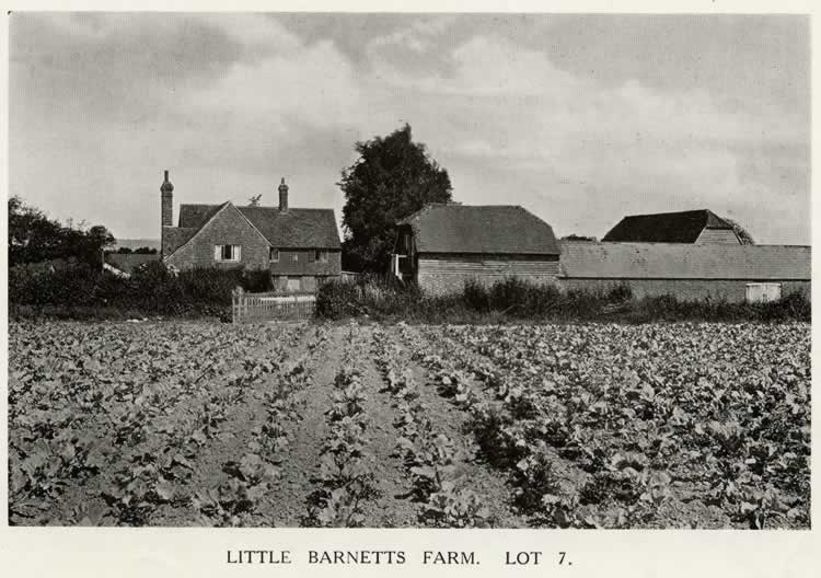 Little Barnetts Farm , 1921. Lot 7 in the auction of Penshurst Place Estate