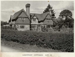 Lightfoot Cottages , 1921. Lot 24 in the auction of Penshurst Place Estate