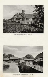 Great Barnetts Farm , 1921. Lot 8 in the auction of Penshurst Place Estate