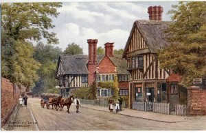 The Post Office (now Southdown House) 1920s. Postcard published by J Salmon, Sevenoaks from an original watercolour by A.R. Quinton