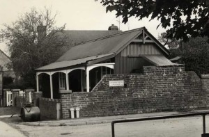 The 'old' Cricket Pavilion, built 1896
