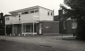 The new Cricket Pavilion, built 1972