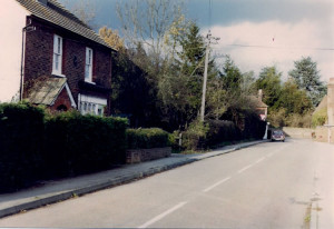 Lower Green from Old Bakery to junction with High Street. Photo mid-1970s