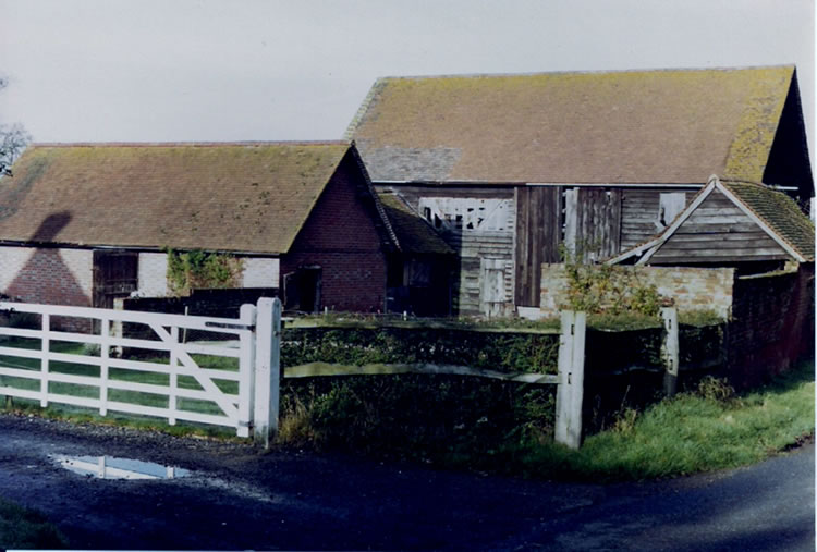 Cinder Hill Farm outbuildings. Photo mid-1970s
