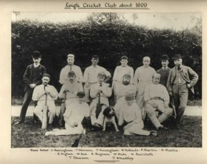 Leigh Cricket Club, about 1899