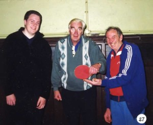 eigh Royal British Legion Table Tennis Club Team B in Division Two, Tonbridge and District League, 2000 Toby Massey, John Butler, Ted Houghton