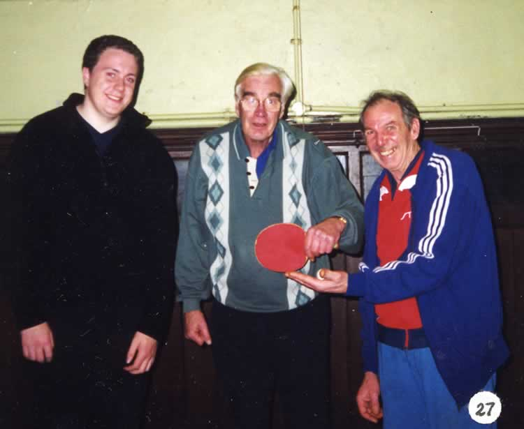 Leigh Royal British Legion Table Tennis Club Team B in Division Two, Tonbridge and District League, 2000 Toby Massey, John Butler, Ted Houghton