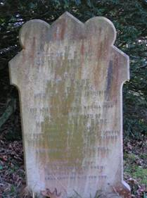 Horace Eade's grandparents' gravestone in St Luke's Churchyard, Chiddingstone Causeway
