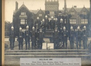 Leigh Fire Brigade photographed outside Hall Place, 1926.