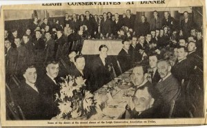 Leigh Conservative Association dinner, 1936