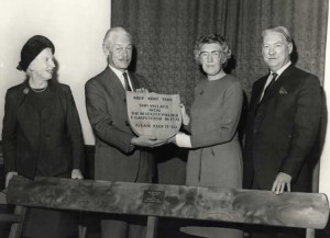 Presentation of the shield to Leigh Parish Council for the Best Kept Village in Kent 1971