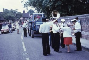 Parade through Leigh High Street to the Green to celebrate the Queen's Silver Jubilee, 1977