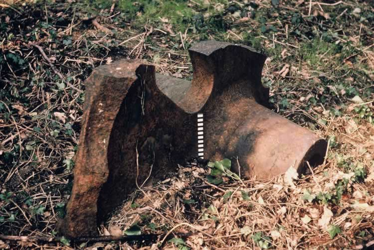 Broken metal mill shaft.