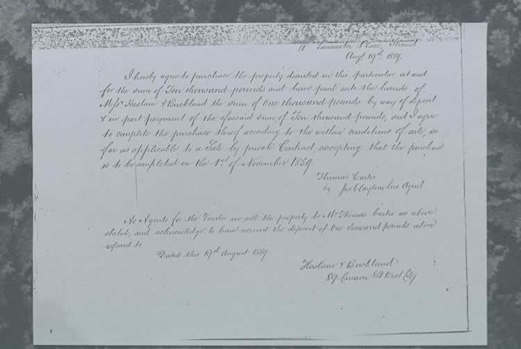 1859 Document of Sale.