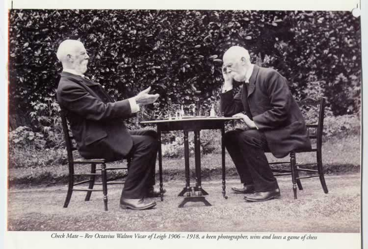 Rev Octavius Walton, vicar of Leigh 1906-1918, a keen photographer wins and loses a game of chess!