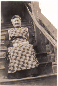 Charlotte Bourner, on stairs at Forge Square