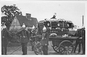 Leigh Fire Brigade pulling the coffin of Harry 'Potty' Faircloth who died January 1929 aged 73