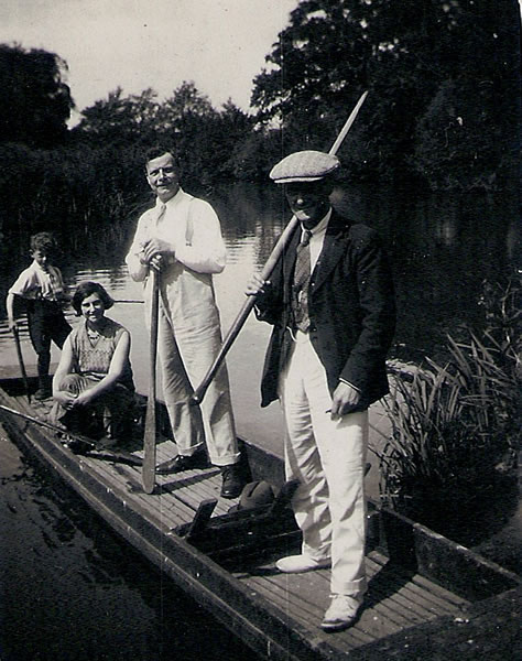 Large punt kept on the mill stream by the Groves family, who lived in No 7 Powder Mills, in the 1940s/50s.