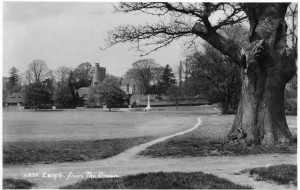 The Green from Oak Cottage showing the footpath across to Powdermill Lane. Postcard produced by E.A. Sweetman & Sons Ltd., Tunbridge Wells. Probably 1920s