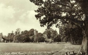 The Green from the southeast corner. Postcard, 1940s