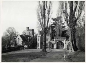 East Gate, East Lodge and St Mary's Church