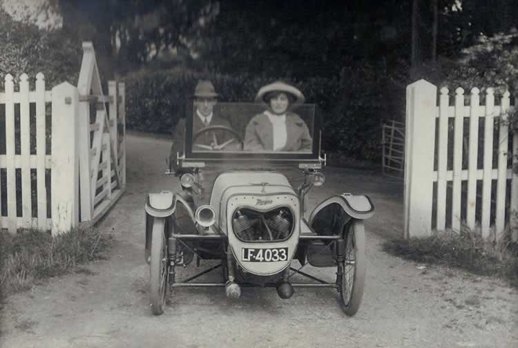 1920s Morgan. Photograph from the album of Rev. Octavius Walton (vicar of Leigh 1906-18)
