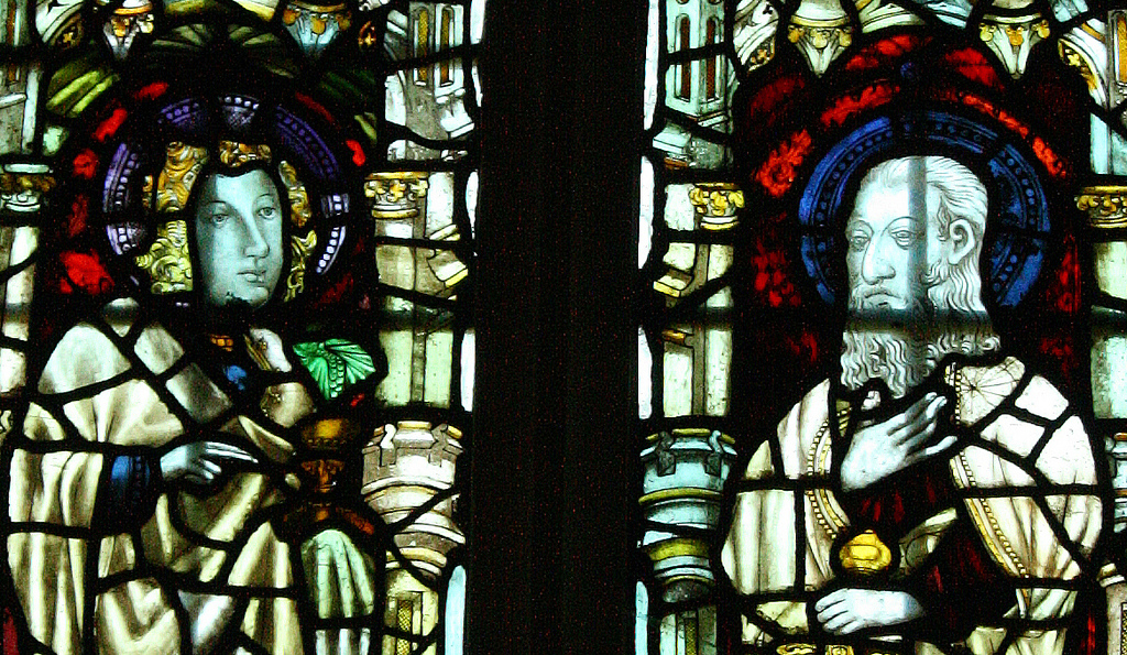 Stained glass, St. Mary's Church. Photo © Chris Kelly All rights reserved