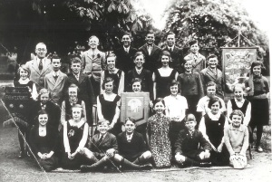 School choral group, 1937. The Music Festival, Corn Exchange, Tunbridge Wells.