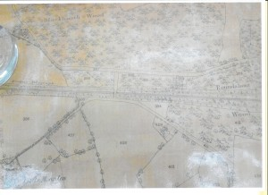 Photograph from 1882 copy of the 1871 Ordnance Survey Map