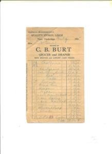 Receipt: C B Burt July 1935