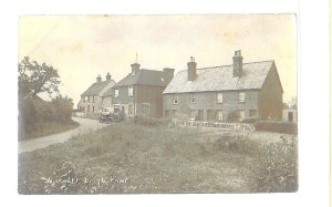 Charcott:  Left to right: Greyhound Pub, the Bakery, four cottages.