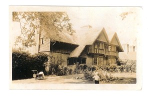 Oak Tree Cottages - next to allotments - taken ca 1930s.