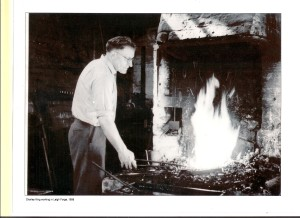 Charley King working in Leigh Forge, 1958.  (Father of Peter King)