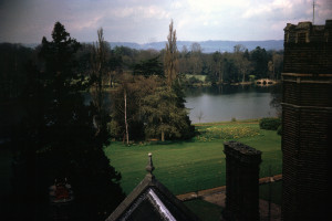 View of lake at Hall Place