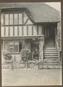 No. 6 Forge Square.  Probably pre-1920s.  House is still thatched.