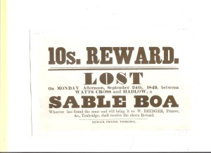 Reward issued by the Leigh Prosecuting Society