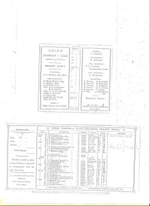 Leigh Football Club 1906-07 season fixtures