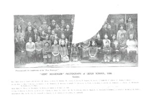 LEIGH SCHOOL Seniors 1926.   (List of names is given under 'Leigh School' - better copy in Leigh Archives.)