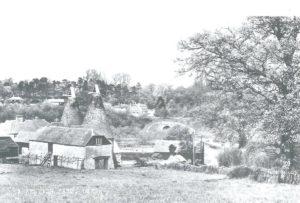 Postcard entitled A Kentish Farm, Leigh - view down towards what is now Pauls Farm Oast.