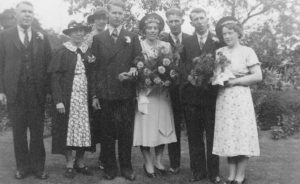 Wedding of Robert George Humphrey and Esther Fulton 20 August 1938 at Leigh
