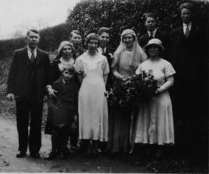 Wedding of Frank (Albert Frank) Humphrey and Nancy Levett 7 April 1934 in Buxted, Sussex.