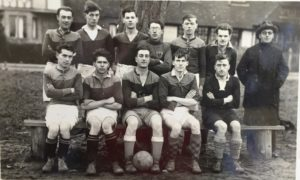 Leigh Football Club ca 1932 - in front row second from left is Robert George Humphrey b. 1912 Leigh